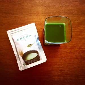 Traditional form of Matcha Green Tea made from Encha Powder.